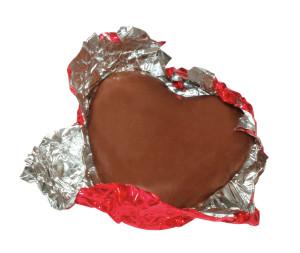 Čokoládové srdíčko s možností vlastního potisku