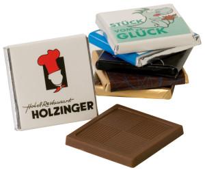 Čokoládka v reklamním obalu