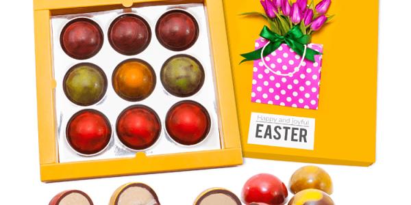 Čokoládová krabička s planetkami
