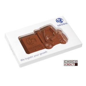 Čokoláda ve tvaru vozíku