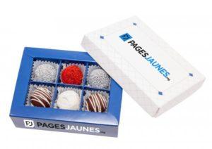 Čokoládové pralinky v originální krabičce