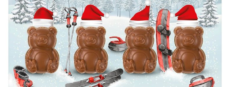 Vánoční přání s medvídky