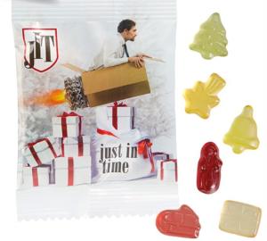 Vánoční želé bonbónky v reklamním obalu