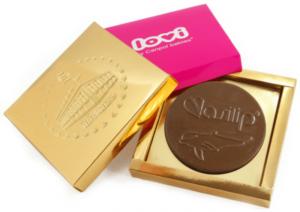 Čokoládové medaile v krabičce s potiskem