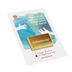 Čokoládová karta v reklamním obalu