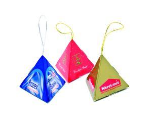 Čokoládka v reklamní pyramidce