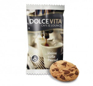 Cookie v reklamním obalu