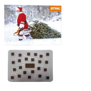 Adventní kalendář s čokoládovými čtverečky