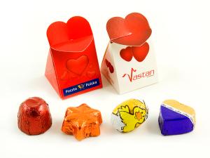 Čokoládka v mini krabičce se srdíčkem