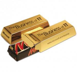 Tyčinka Mars v luxusní reklamní krabičce
