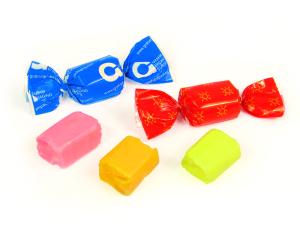 Žvýkací karamely ve fólii s potiskem