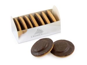 Reklamní čokoládové piškoty