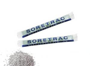Stříbrný cukr v reklamním obalu