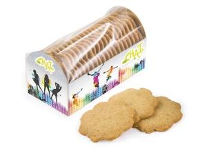 Zázvorové sušenky v reklamní krabičce