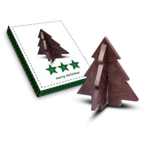 Čokoládové 3D puzzle - stromeček