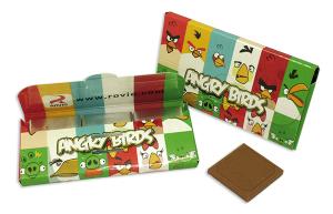 Čokoládky v reklamní krabičce