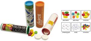 Mini reklamní tubus s cukrovinkami