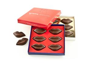 Čokoládové pusinky v reklamní krabičce