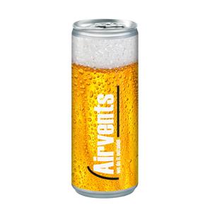 Pivo v reklamní plechovce