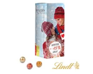 Adventní kalendář ve tvaru hranolu s Lindt kuličkami