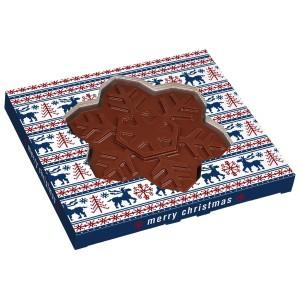 Čokoládová vločka v reklamní krabičce