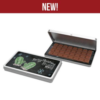 Čokoláda v krabičce s textem klienta