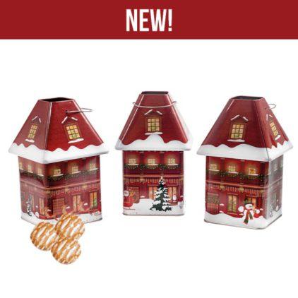 Vánoční domeček Tin - 12 perníčků -168 g