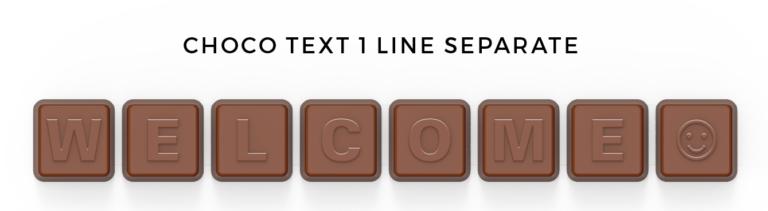 CHOCO TEXT - Jeden řádek v obálce
