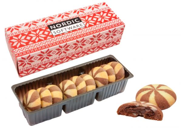 Sušenky v obalu s vánočním motivem