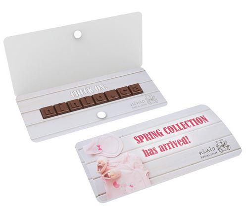 Kartonové poštovní schránky na čokoládu