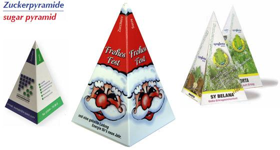 Cukr v pyramidě s potiskem