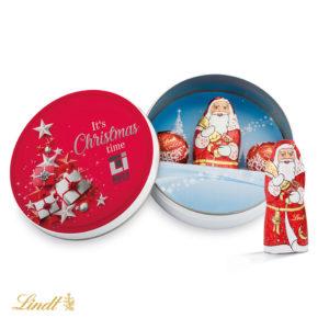 Vánoční Tin krabička s čokoládovými kouličkami Lindt