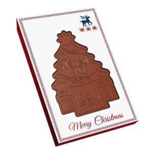 Čokolády ve tvaru vánočního stromečku