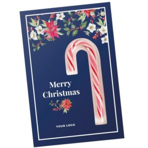 vánoční přání s lízátkem