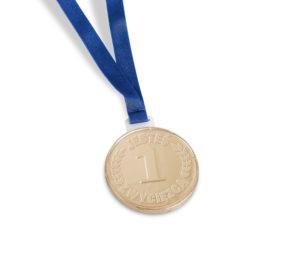 Čokoládová medaile se stuhou
