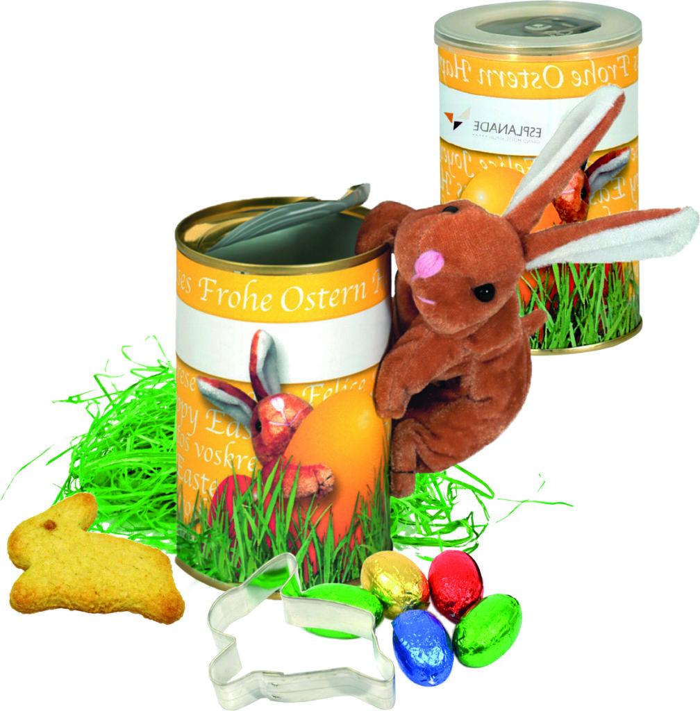 Čokoládová vajíčka v plechové krabičce s magnetickým zajíčkem