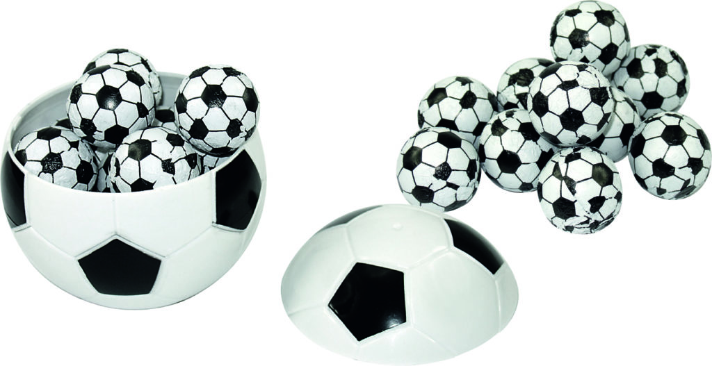 Čokoládové fotbalové kuličky