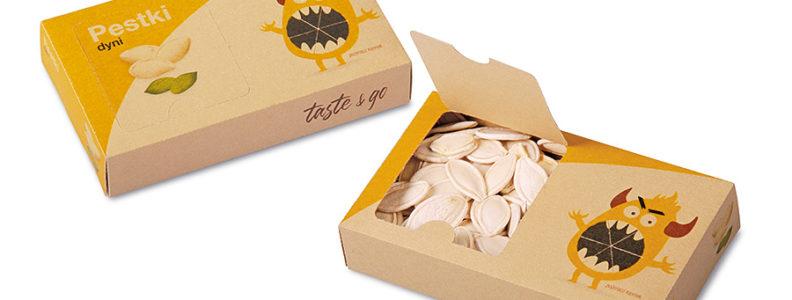 Krabice s dýňovými semínky