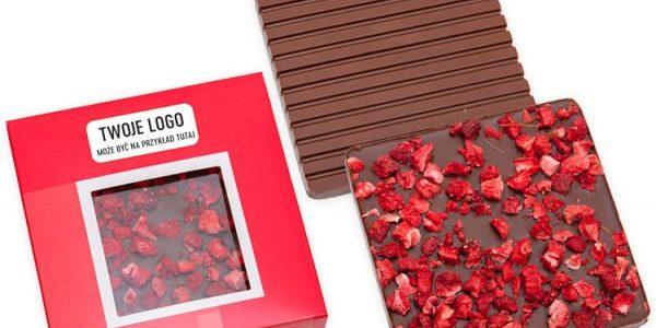 Belgická čokoláda s kousky lyofilizovaného ovoce