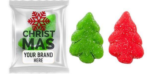 Ovocné želé ve tvaru vánočního stromečku