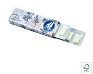 Žvýkačky v podlouhlém blistru