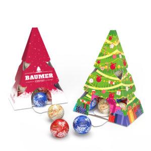 Vánoční stromek s 15 kuličkami Lindt Lindor