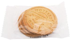 Sušenky s logem v průhledné fólii