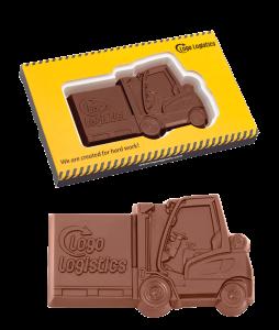 Čokoláda ve tvaru vysokozdvižného vozíku