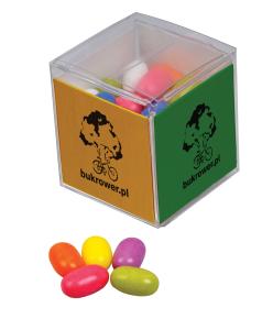 Želé v reklamní krabičce