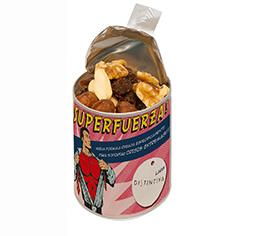 Směs oříšků a sušeného ovoce v reklamním tubusu s potiskem