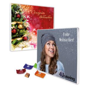 Adventní kalendář s vlastním potiskem obsahující 24 čokoládek Ritter SPORT