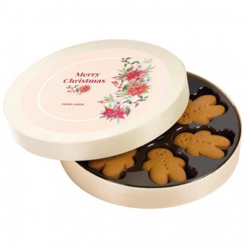 Dřevěná krabička s perníkovými sušenkami
