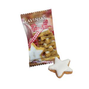 reklamní vánoční perníková hvězda